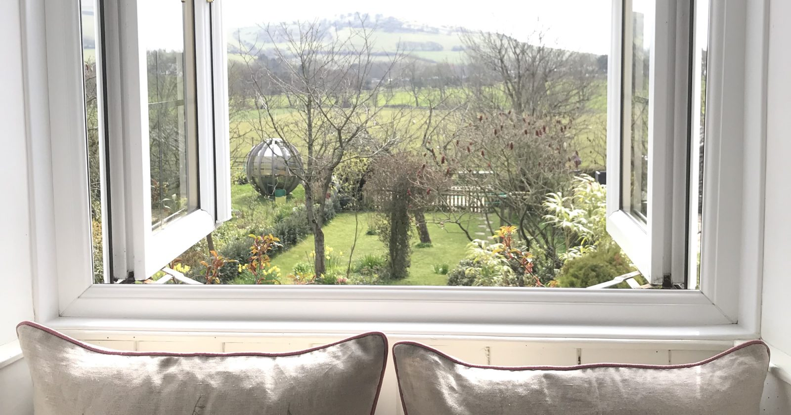 Stunning View Of The Dorset Countryside From One Of The Windows Of Greenwich Cottage