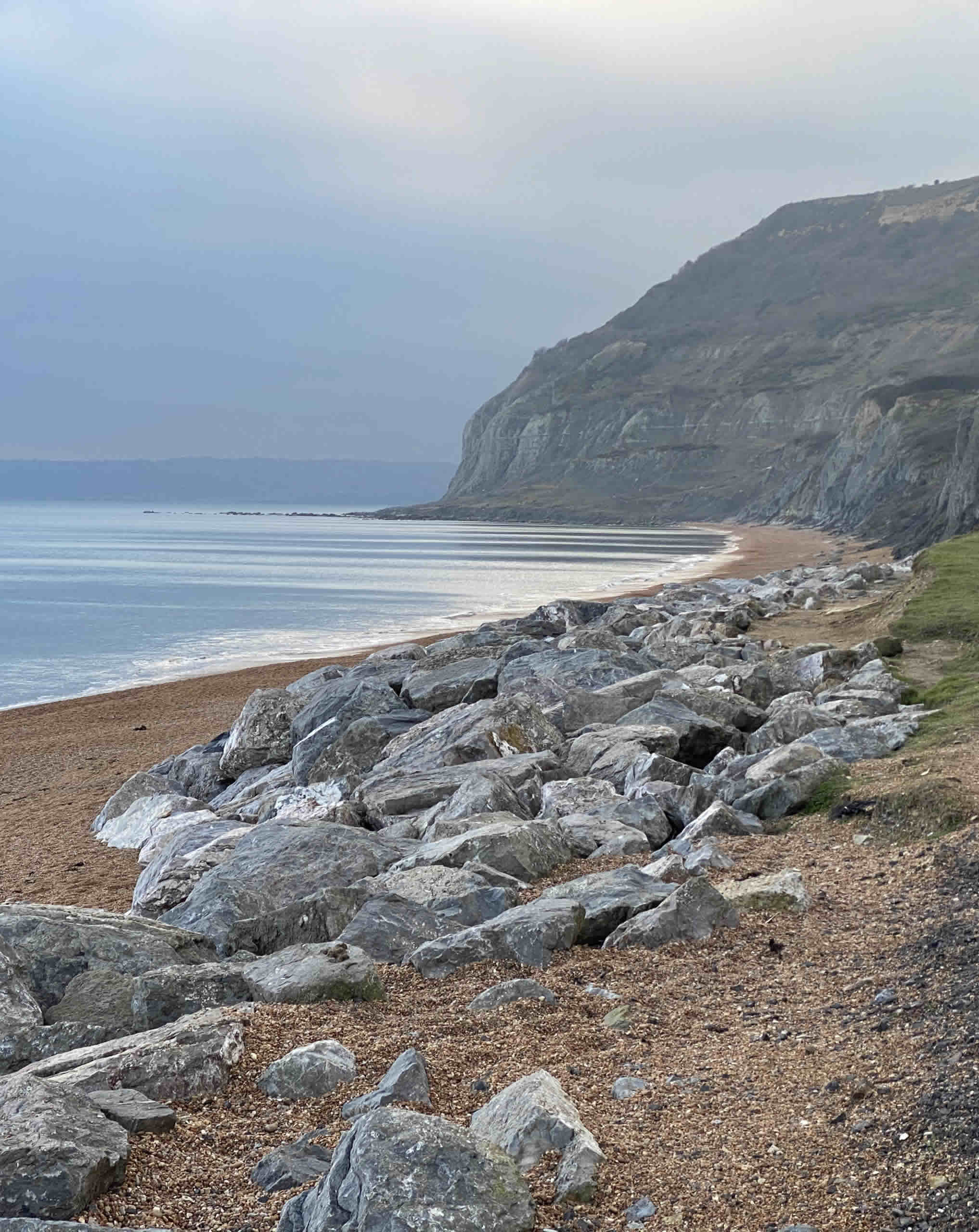 Seatown beach in Dorset